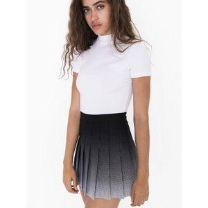 American Apparel Gabardine Tennis Skirt Polka Dot